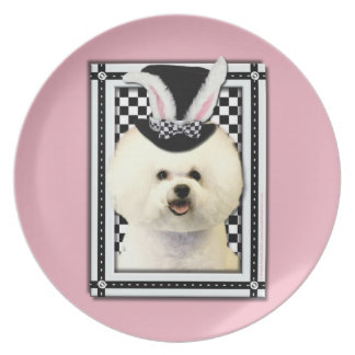 Easter - Some Bunny Loves You - Bichon Frise Party Plates