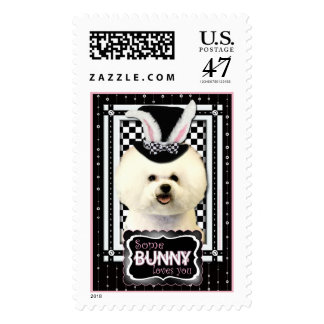 Easter - Some Bunny Loves You - Bichon Frise Postage