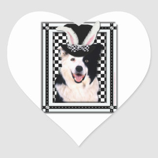 Easter - Some Bunny Loves You - Border Collie Heart Sticker