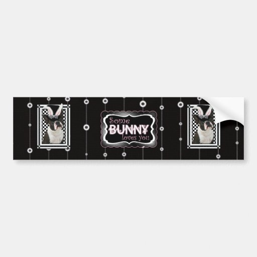 Easter - Some Bunny Loves You - Boston Terrier Car Bumper Sticker