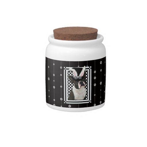 Easter - Some Bunny Loves You - Boston Terrier Candy Jar