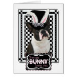 Easter - Some Bunny Loves You - Boston Terrier Greeting Card