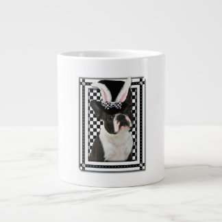 Easter - Some Bunny Loves You - Boston Terrier Large Coffee Mug