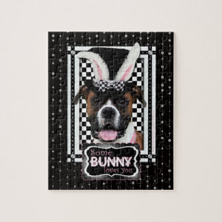 Easter - Some Bunny Loves You - Boxer Jigsaw Puzzle