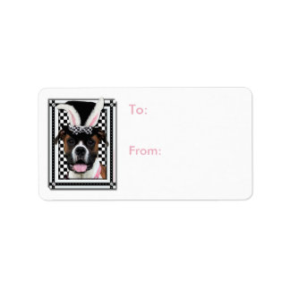 Easter - Some Bunny Loves You - Boxer Address Label