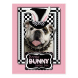 Easter - Some Bunny Loves You - Bulldog Postcard