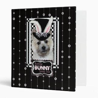 Easter - Some Bunny Loves You - Cairn Terrier Vinyl Binder