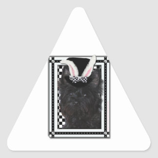 Easter - Some Bunny Loves You - Cairn Terrier Triangle Sticker