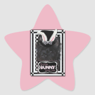 Easter - Some Bunny Loves You - Cairn Terrier Star Sticker