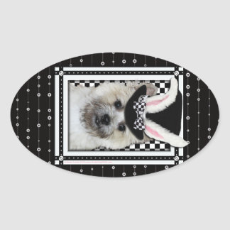 Easter - Some Bunny Loves You - Cairn Terrier Oval Sticker