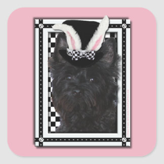 Easter - Some Bunny Loves You - Cairn Terrier Square Sticker