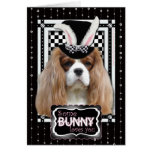 Easter - Some Bunny Loves You - Cavalier Blenheim Greeting Card