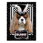 Easter - Some Bunny Loves You - Cavalier Blenheim Postcard