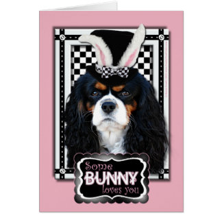 Easter - Some Bunny Loves You - Cavalier TriColor Card