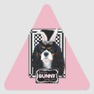 Easter - Some Bunny Loves You - Cavalier TriColor Triangle Sticker
