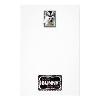 Easter - Some Bunny Loves You - Chinese Crested Personalized Stationery