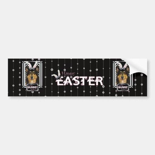 Easter - Some Bunny Loves You - Collie Caroline Bumper Sticker