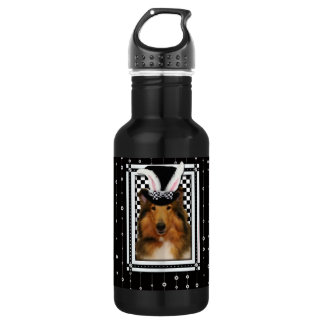 Easter - Some Bunny Loves You - Collie Natalie Stainless Steel Water Bottle