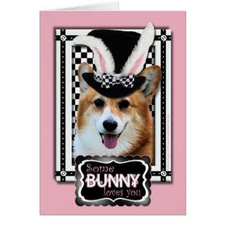 Easter - Some Bunny Loves You - Corgi Owen Card