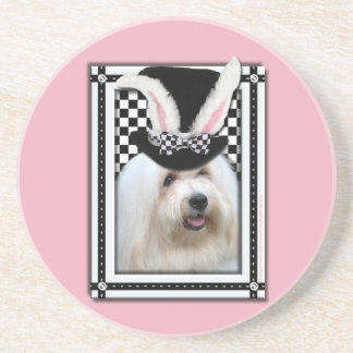 Easter - Some Bunny Loves You - Coton de Tulear Drink Coasters