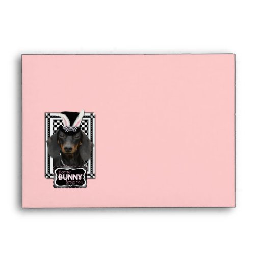 Easter - Some Bunny Loves You - Dachshund Envelopes
