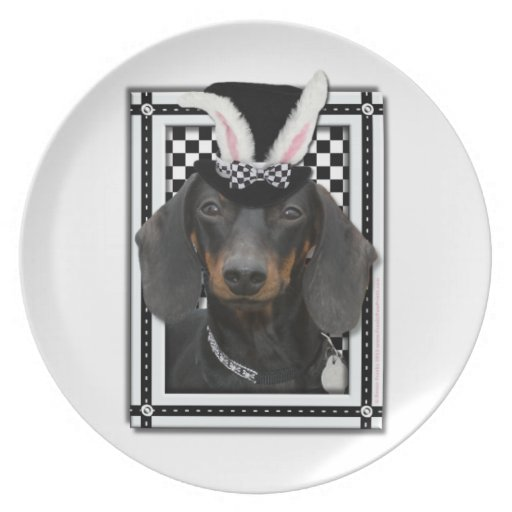 Easter - Some Bunny Loves You - Dachshund Plates