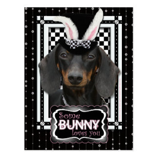 Easter - Some Bunny Loves You - Dachshund Postcard