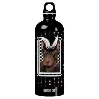 Easter - Some Bunny Loves You - Doberman Aluminum Water Bottle