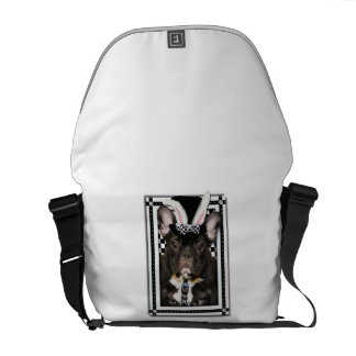 Easter - Some Bunny Loves You - French Bulldog Courier Bags