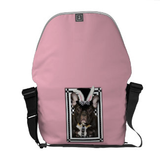 Easter - Some Bunny Loves You - French Bulldog Messenger Bags