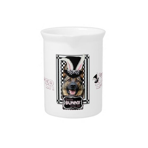 Easter - Some Bunny Loves You - German Shepherd Pitcher