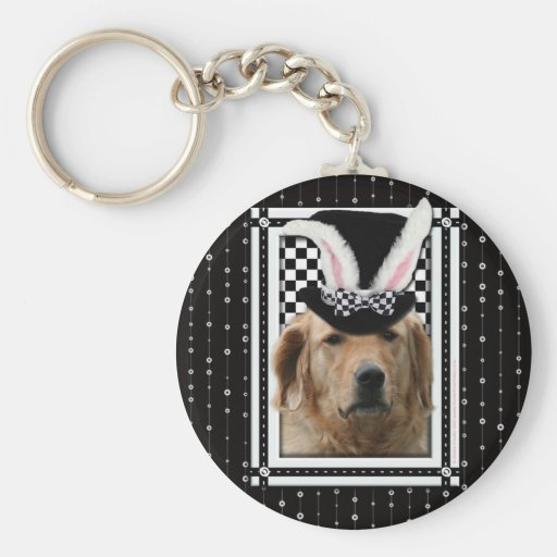 Easter - Some Bunny Loves You - Golden Retriever Basic Round Button Keychain
