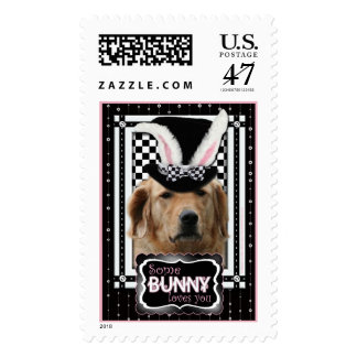 Easter - Some Bunny Loves You - Golden Retriever Postage