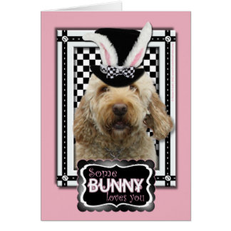 Easter - Some Bunny Loves You - GoldenDoodle Greeting Card