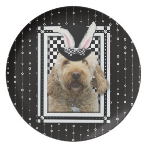 Easter - Some Bunny Loves You - GoldenDoodle Plate