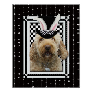 Easter - Some Bunny Loves You - GoldenDoodle Poster