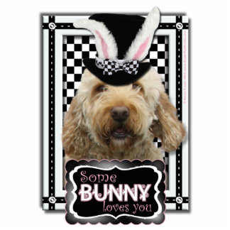 Easter - Some Bunny Loves You - GoldenDoodle Statuette