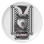 Easter - Some Bunny Loves You - Husky Dinner Plate
