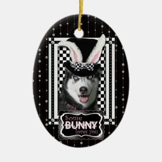 Easter - Some Bunny Loves You - Husky Ornaments