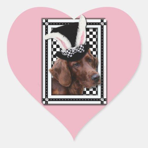 Easter - Some Bunny Loves You - Irish Setter Heart Sticker