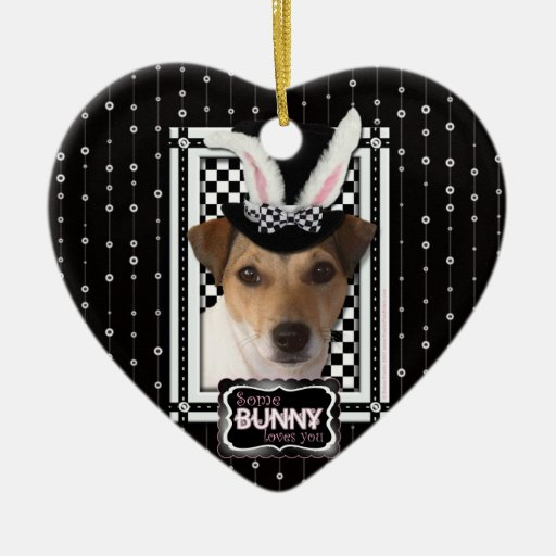 Easter - Some Bunny Loves You - Jack Russell Ornaments
