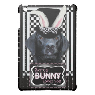 Easter - Some Bunny Loves You - Labrador - Black iPad Mini Covers