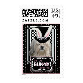 Easter - Some Bunny Loves You - Lowchen Postage Stamp
