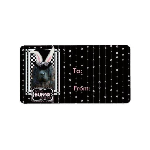 Easter - Some Bunny Loves You - Newfoundland Address Label