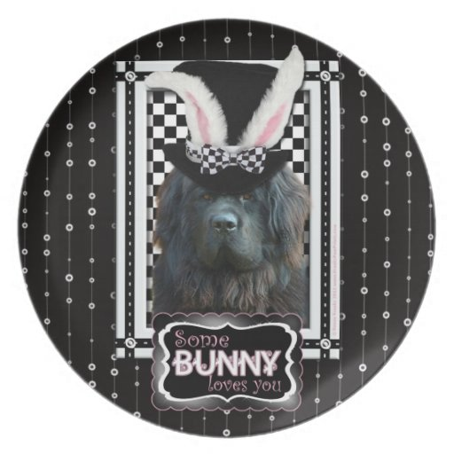 Easter - Some Bunny Loves You - Newfoundland Dinner Plates