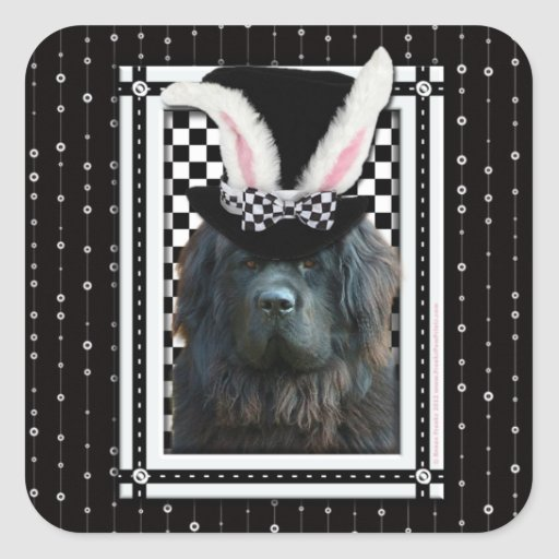 Easter - Some Bunny Loves You - Newfoundland Square Sticker