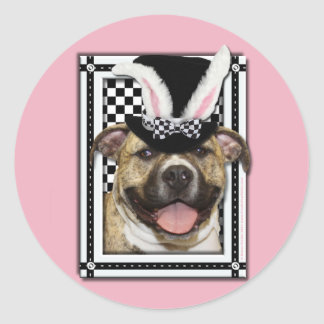 Easter - Some Bunny Loves You - Pitbull Classic Round Sticker
