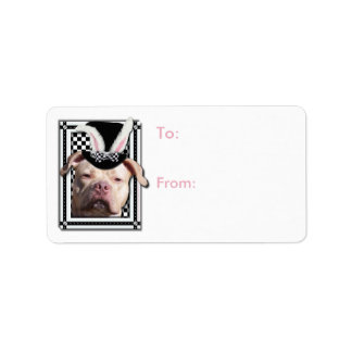 Easter - Some Bunny Loves You - Pitbull Address Label