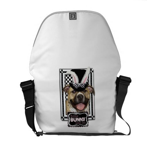 Easter - Some Bunny Loves You - Pitbull Courier Bag