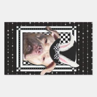Easter - Some Bunny Loves You - Pitbull Rectangular Sticker